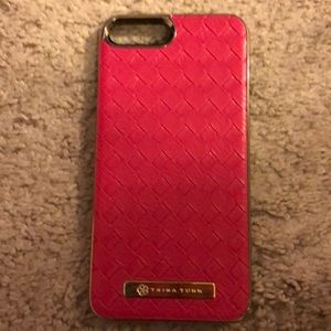 Trina Turk Pink Leather Case for iPhone 📱 7 Plus